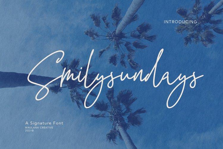 Smilysundays Signature Font example image 1