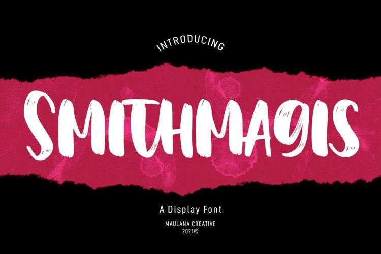 Smithmagis Handwritten Brush Font example image 1
