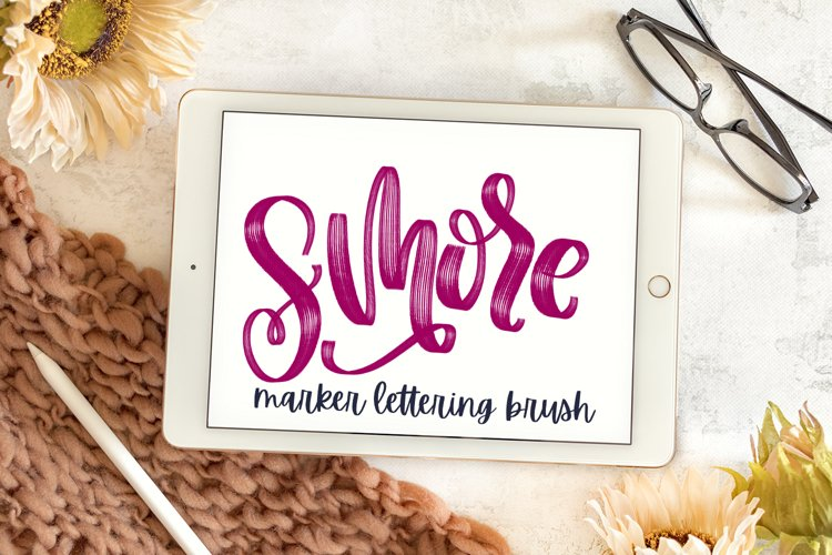 Smore - A Marker Lettering Brush With Highlights