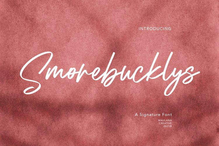 Smorebucklys Signature Font example image 1