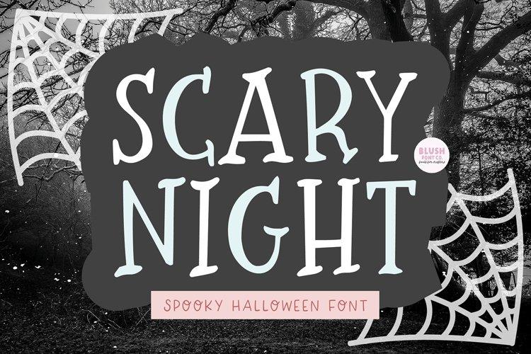 SCARY NIGHT Halloween Serif Font example image 1