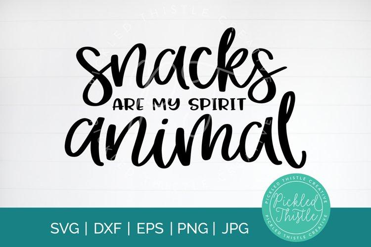 Snacks Are My Spirit Animal Kids T-Shirt SVG