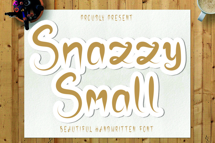 Snazzy Small - A Beauty Handwritten Font example image 1