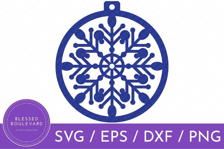 Snowflake Ornament SVG | Christmas Ball Ornament Clipart