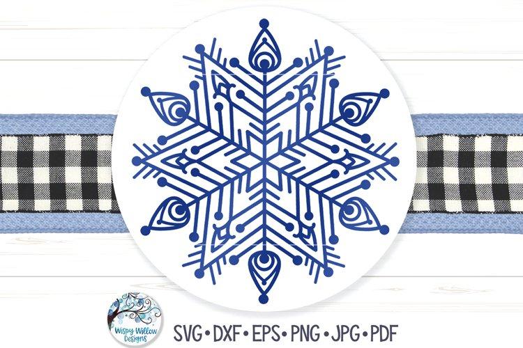 Snowflake Mandala SVG