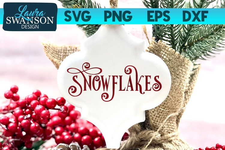Snowflakes SVG Cut File | Christmas SVG Cut File example image 1