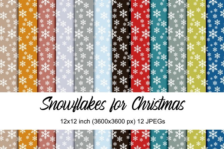 Snowflakes for Christmas digital papers