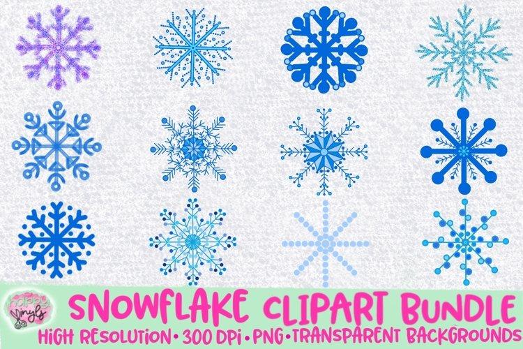 Snowflakes Clipart Illustrations - A Clipart Bundle