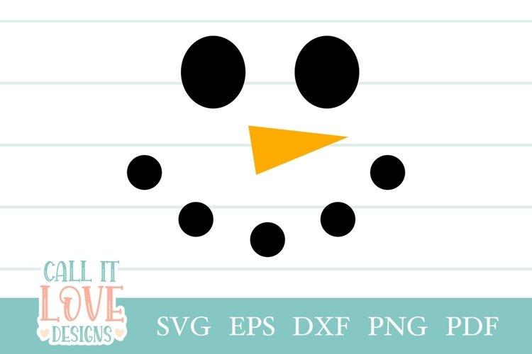 Snowman Face svg, Christmas svg, Clipart svg