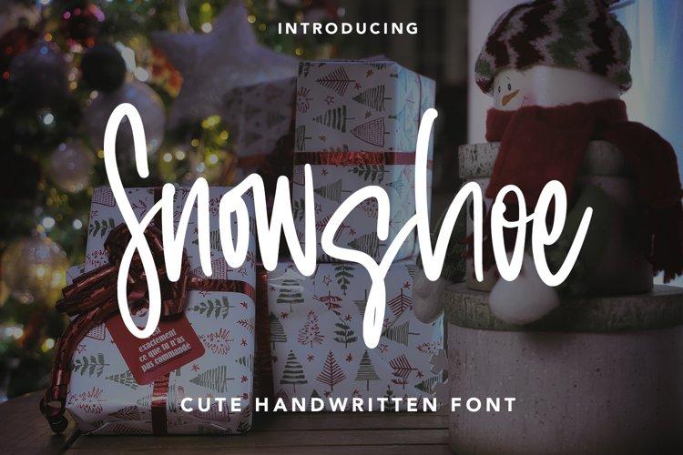 Snowshoe - Cute Handwritten Font