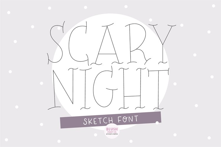 """""""SCARY NIGHT"""" Halloween Sketch Font - Single Line/Hairline example image 1"""
