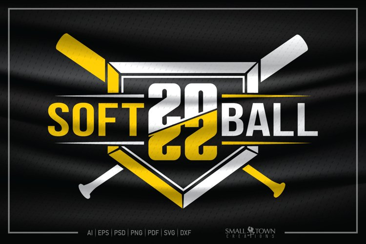 Softball, Softball Diamond, Softball Bats, Softball SVG