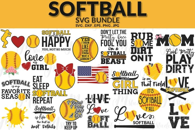 Softball SVG Bundle.