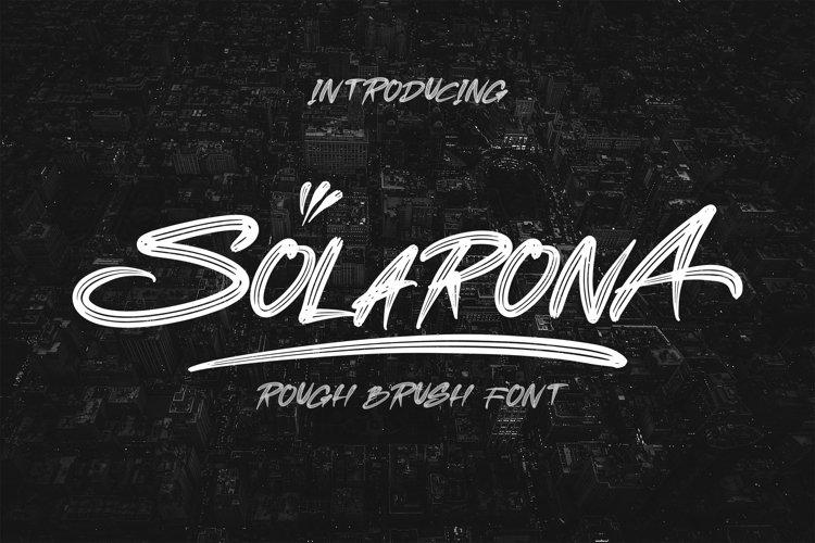 SOLARONA - Brush Font example image 1