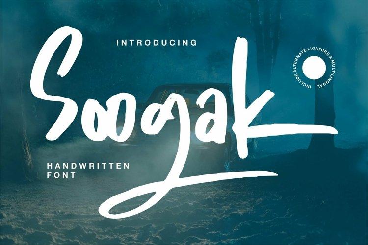 Web Font Soogak - Handwritten Font example image 1