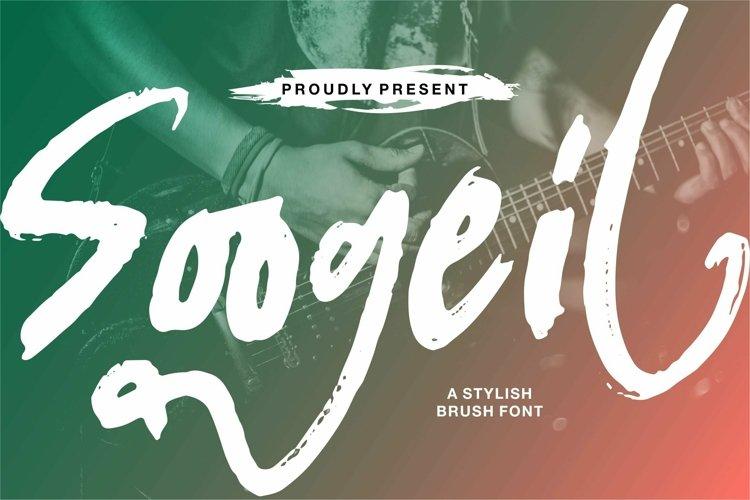 Web Font Soogeil - A Stylish Brush Font example image 1