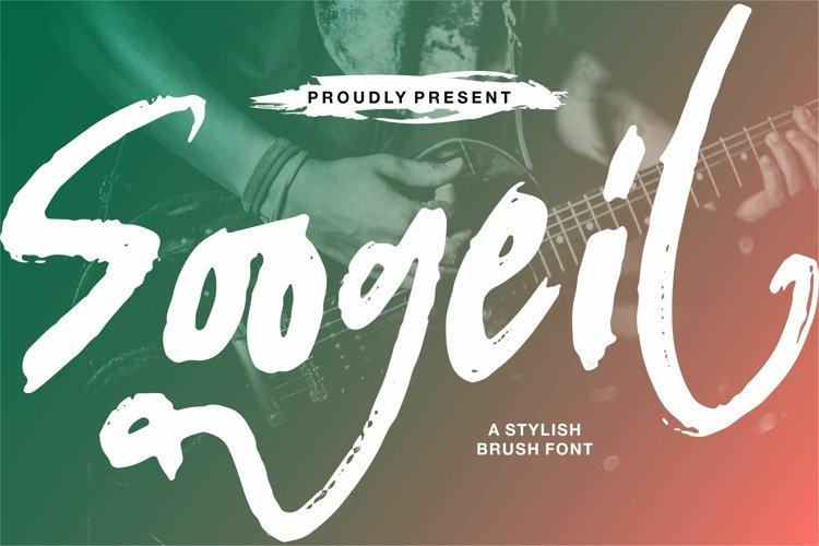 Soogeil - A Stylish Brush Font example image 1