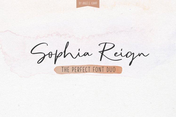 Signature font duo Sophia Reign example image 1