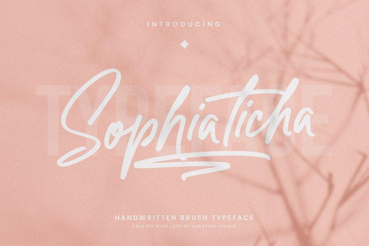 Sophiaticha Handwritten Brush example image 1