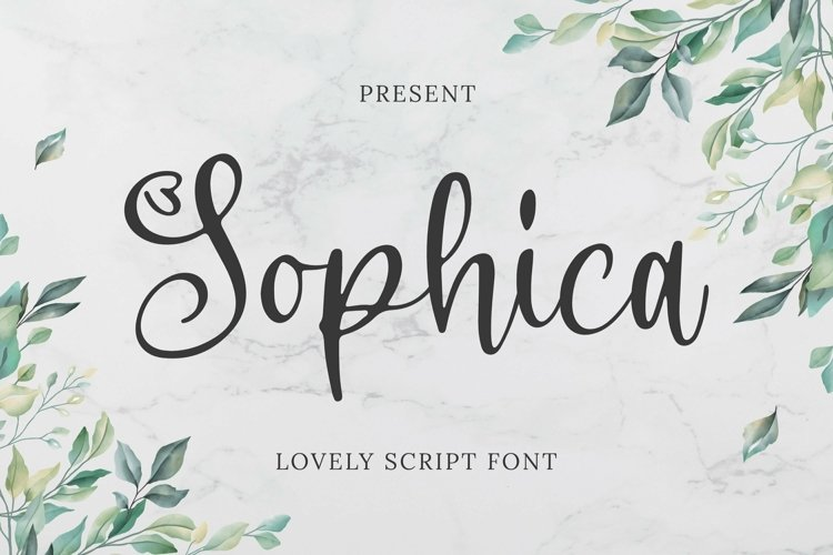 Web Font Sophica Font example image 1