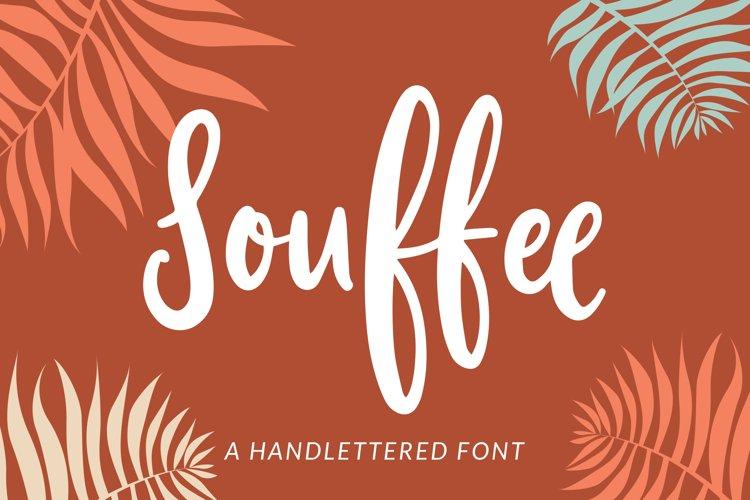 Souffee - A Handlettered Font