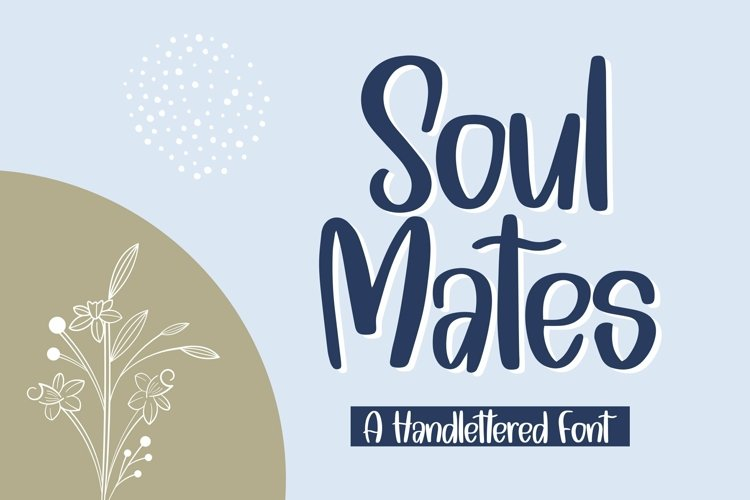 Web Font Soulmates - A Handlettered Font example image 1
