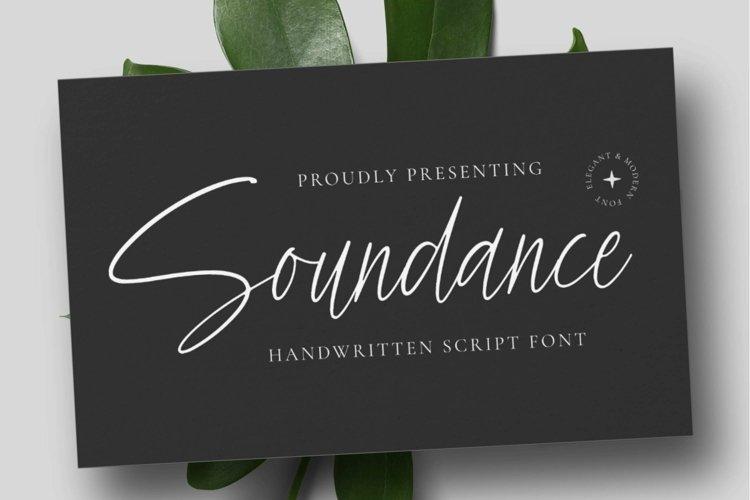 Web Font Soundance example image 1