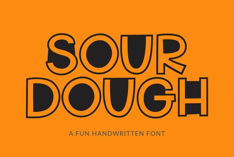 Web Font Sour Dough - a fun handwritten font example image 1