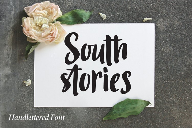 South Stories - Handlettered Font example image 1