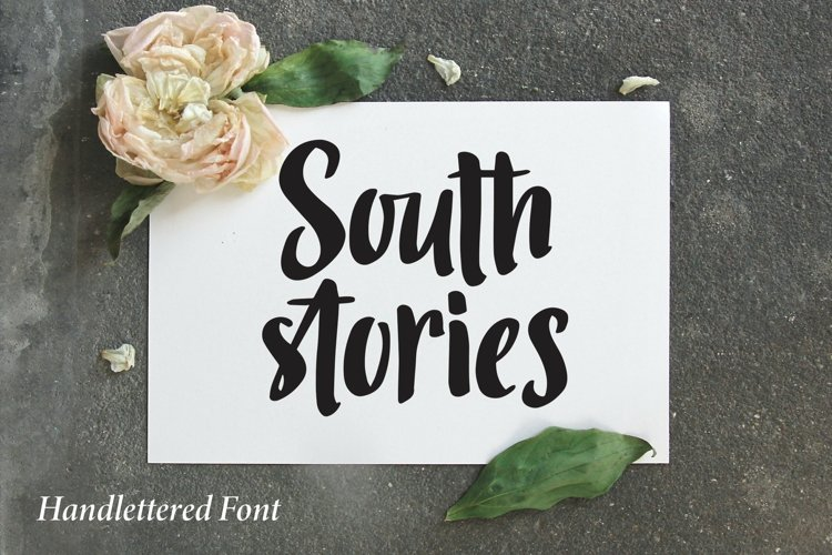 Web Font South Stories - Handlettered Font example image 1