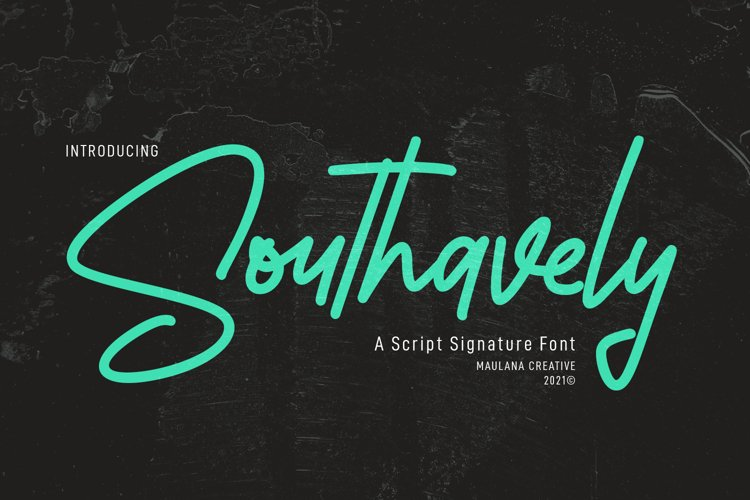 Southavely Script Signature Font example image 1