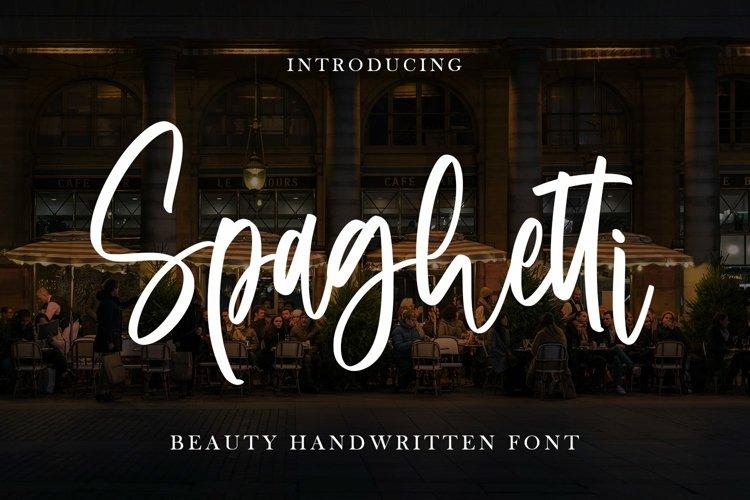 Web Font Spaghetti - Beauty Handwritten Font example image 1