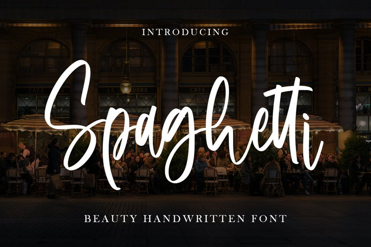 Spaghetti - Beauty Handwritten Font example image 1