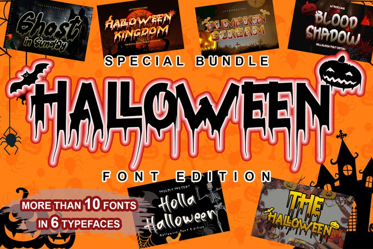 SPECIAL BUNDLE HALLOWEEN FONT EDITION example image 1