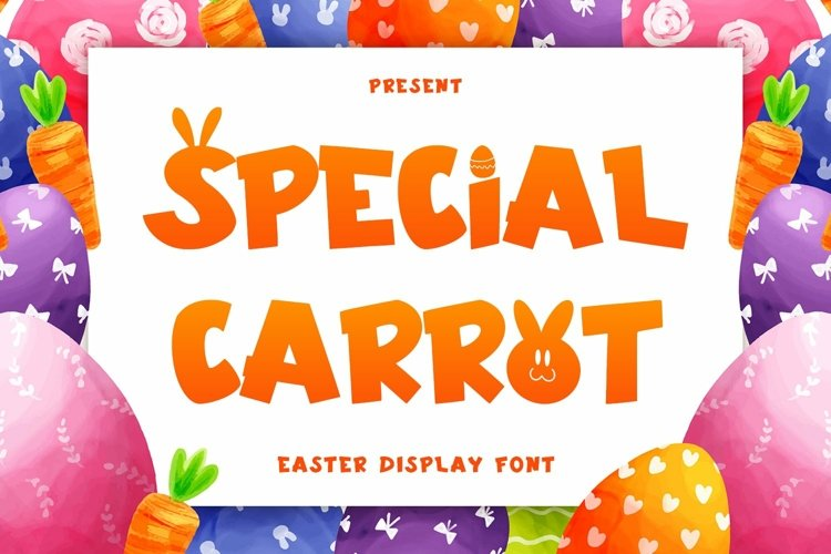 Web Font Special Carrot - Easter Display Font example image 1