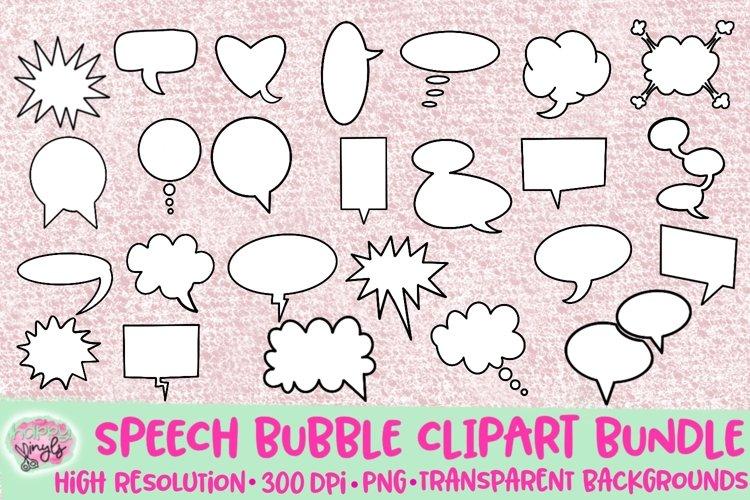 Speech Bubble Clipart - A Clipart Bundle