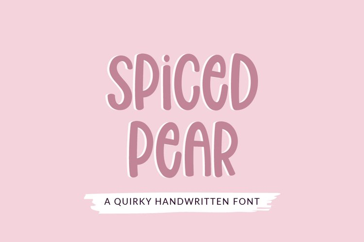 Spiced Pear - a quirky craft font example image 1