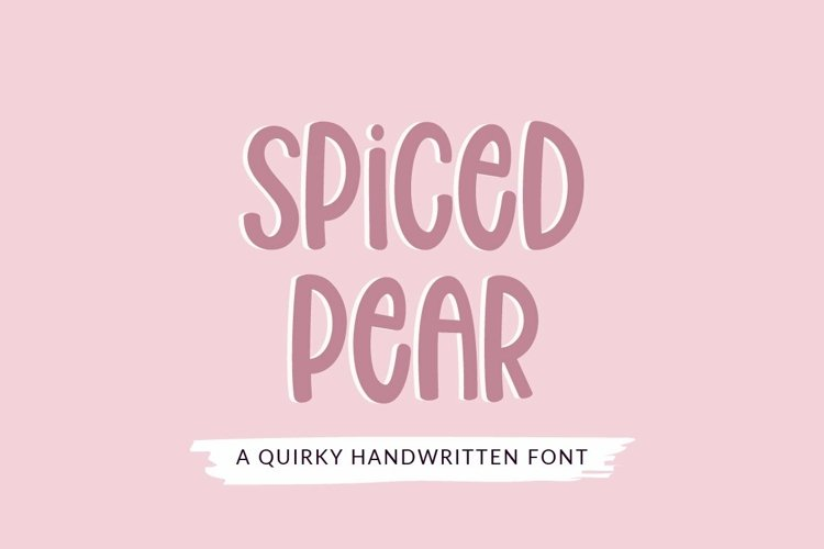 Web Font Spiced Pear - a quirky craft font example image 1