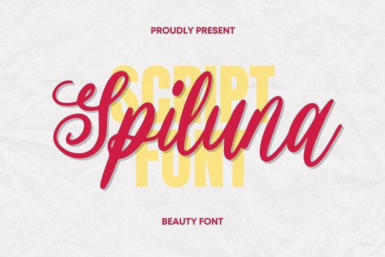 Web Font Spiluna Font example image 1
