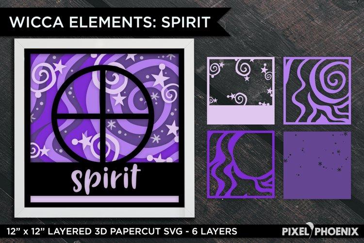 Layered Papercut Wicca Element Spirit, Layered SVG