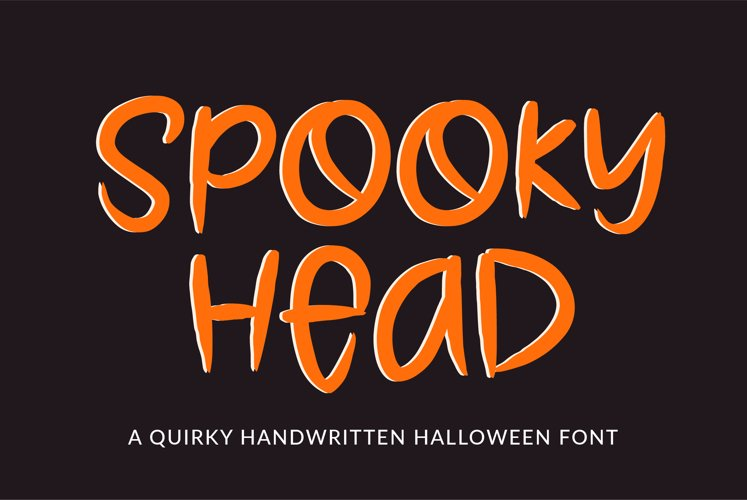 Spooky Head - a halloween font example image 1