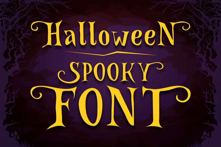 Spooky Font - Witch Alternate Glyphs example image 1