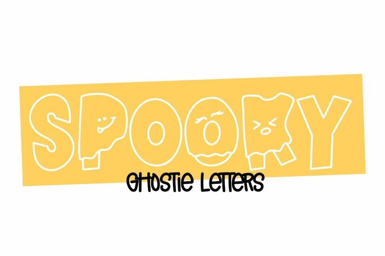Web Font Spooky - Letters Dressed as Ghosts! A Halloween Fon example image 1