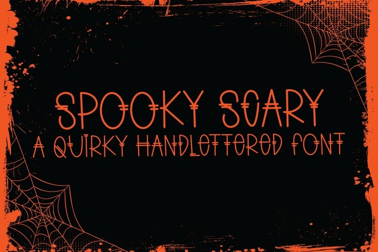 Web Font Spooky Scary - A Quirky Handlettered Font example image 1