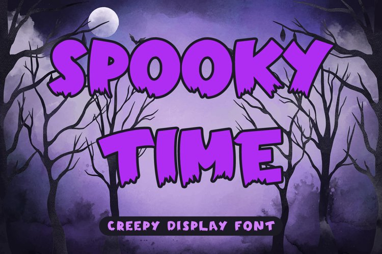 Spooky Time - Creepy Display Font example image 1