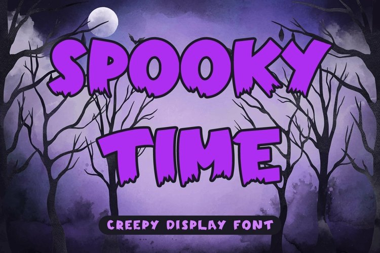 Web Font Spooky Time - Creepy Display Font example image 1