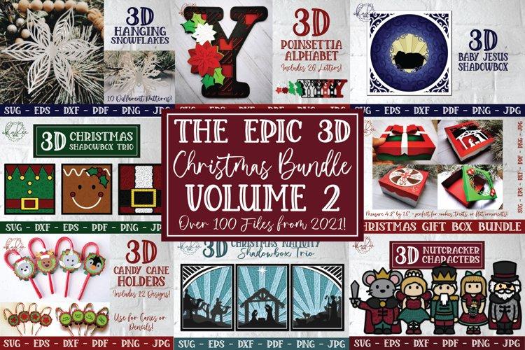 Epic 3D Christmas Bundle Volume 2 - Layered Papercut SVG