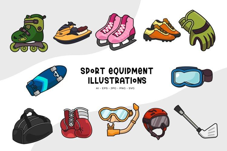 Sport Equipment Illustrations