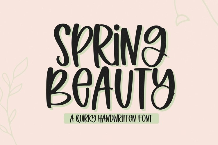 Web Font Spring Beauty - A Quirky Handwritten Font example image 1