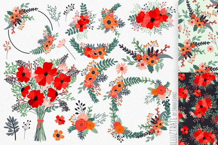 Spring Flower Clipart | Flower Sublimation Designs